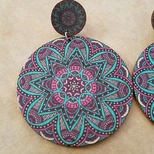 3 For $15 Wood Festival Earrings